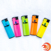 These windproof neon-colored lighters are sold individually or as a 5-pack at Atomicblaze online headshop.