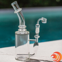 If you prefer to smoke from a well-built dab rig without too much color flare, then this is your glass rig and ships free at Atomic Blaze Dab supplies.