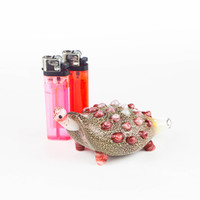 """Become one with nature as you smoke out of this 4"""" glass turtle pipe, from Atomic Blaze Head Shop."""
