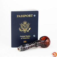Get a smooth hit every time with this fumed glass pipe from Atomic Blaze Online Head Shop.