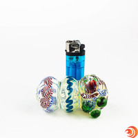 This unique triple blown glass pipe from Atomic Blaze Head Shop is perfect for everyday smoking.