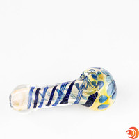 At 4 inches in length, these glass smoking pipes from AtomicBlaze Headshop are an ideal size for your every-night smoking device.