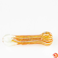 """This 5"""" heavy rasta glass pipe will have you full of peace and love in no time."""