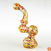 "7"" confetti designed water pipe bubblers on sale at Atomic Blaze Head Shop."