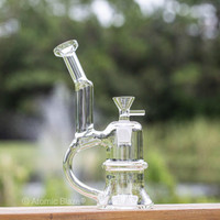 Sale on a 8 Clear Bong w/Handle from AtomicBlaze Headshop and we always have the cheapest glass pipes and bongs and free shipping promos