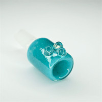 Save on small glass bongs and bubblers Colorful 14mm Glass Bowls from Atomic Blaze Smoke Shop! Colorful 14mm glass bowls comes in teal.