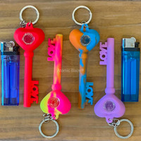 Sale on a Key of Love Keychain Silicone Pipe from Atomic Blaze Headshop and we always have the cheapest glass pipes and bongs and free shipping promos