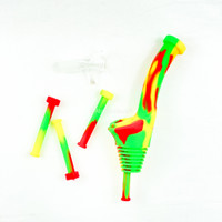 Atomic Blaze Online Smoke Shop has Silicone Bottle Bong Topper in rasta - red, yellow and green.