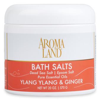 Aromatherapy+ Bath Salts - Ylang Ylang & Ginger 20 oz.