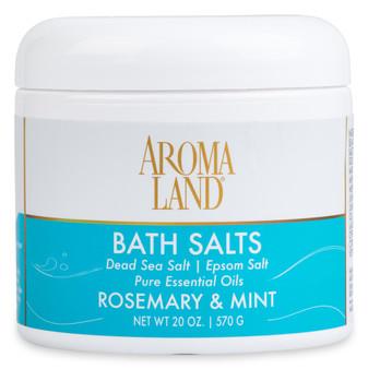 Aromatherapy+ Bath Salts - Rosemary & Mint 20 oz.