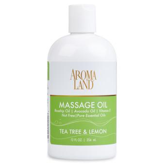 Aromatherapy+ Massage & Body Oil - Tea Tree & Lemon 12 oz.
