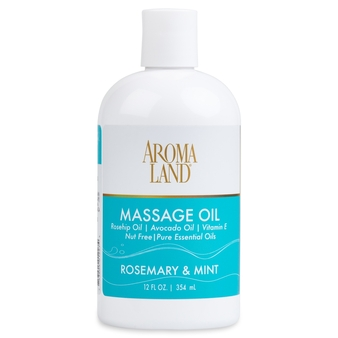 Aromatherapy+ Massage & Body Oil - Rosemary & Mint 12 oz.