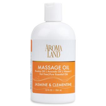 Aromatherapy+ Massage & Body Oil - Jasmine & Clementine 12 oz.