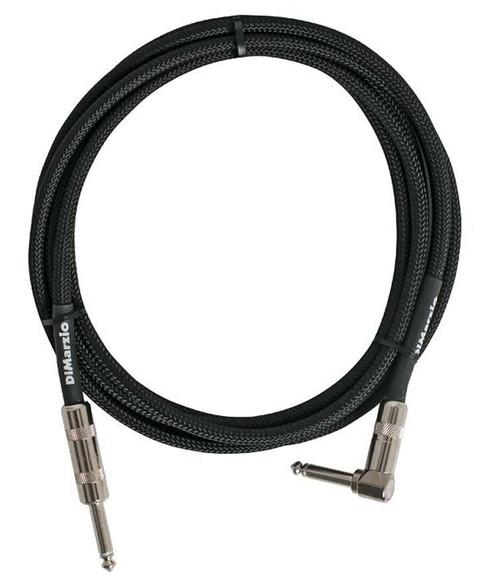 DiMarzio 18' Braided Guitar Cable - R/A - Straight