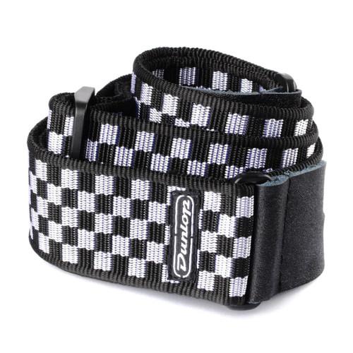 Jim Dunlop Black & White Check Guitar Strap