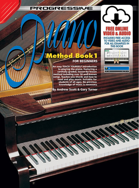 Progressive Piano Method Book 1 Book with Online Video & Audio