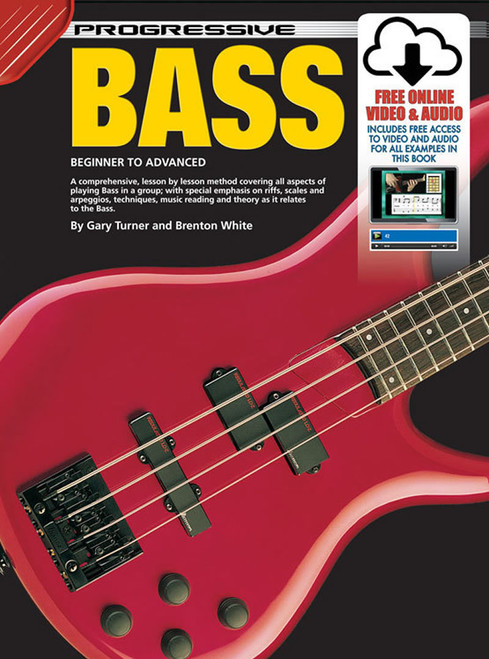 Progressive Bass Guitar Book with Online Audio & Video