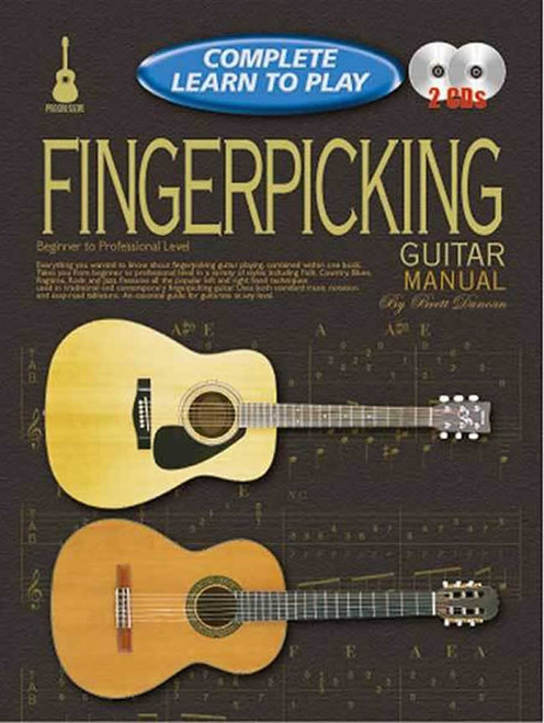 Progressive Complete Learn to Play Fingerpicking - Book & 2 CDs