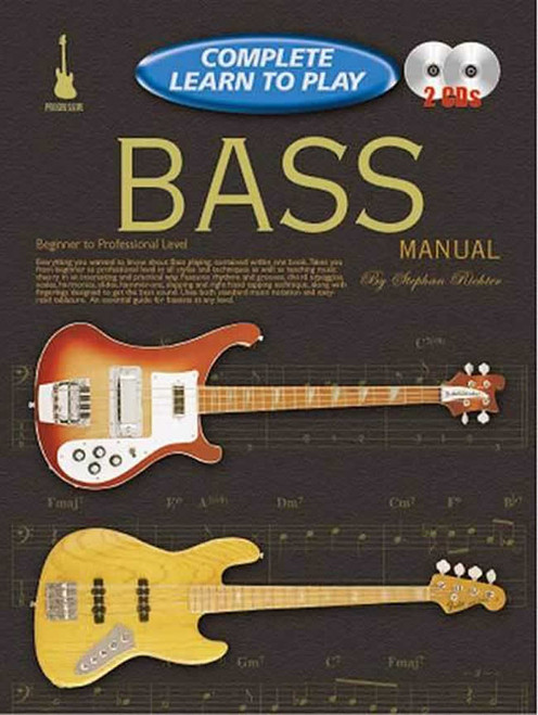 Progressive Complete Learn to Play Bass Manual - Book & 2 CDs