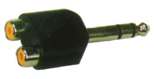 6.3 Stereo Jack Plug (M) to 2 x RCA (F) Adaptor