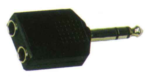 6.3 Stereo Jack Plug (M) to 2 x 6.3 Stereo Sockets (F) Adaptor