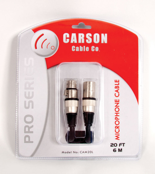 Carson Pro 20' XLR to XLR Microhone Lead