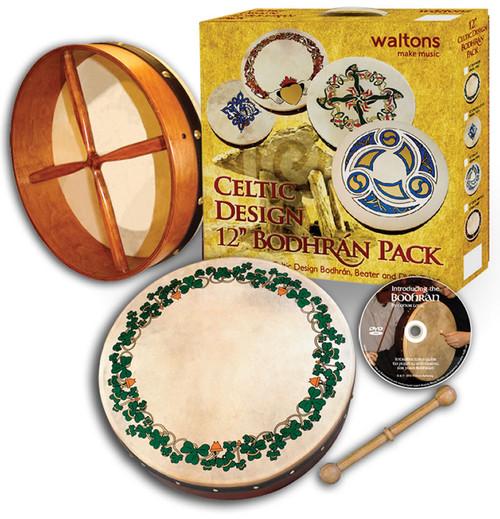 "Waltons 12"" Bodhran Package with DVD Tutor"
