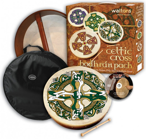 "Waltons 18"" Bodhran Package with Bag & DVD Tutor"