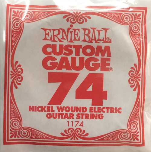 Ernie Ball .074 Wound Single Electric String