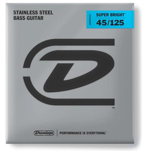 Dunlop Stainless Steel Super Bright 5-String Bass Set