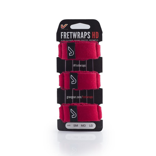 GruvGear 3-pack Small Red FretWraps