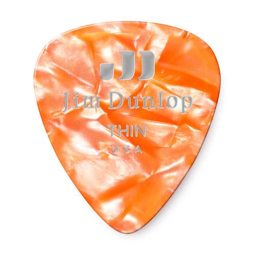 Jim Dunlop Orange Pearl Classics Genuine Celluloid Pick