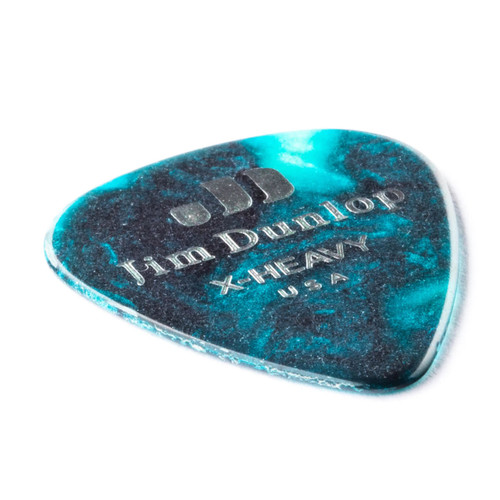 Jim Dunlop Turquoise Pearl Classics Genuine Celluloid Pick