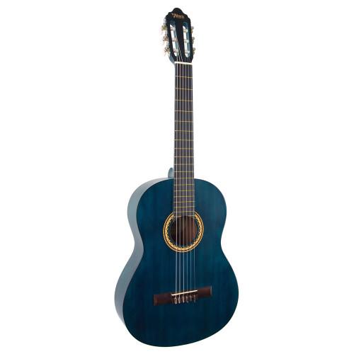 Valencia VC204 4/4 Classical Guitar - Transparent Blue