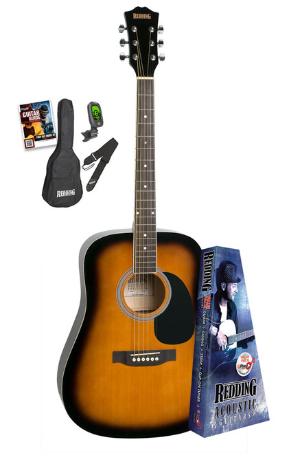 Redding Tobacco Burst Acoustic Guitar Package