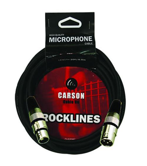 Carson Rocklines 6 foot XLR-XLR Microphone Cable