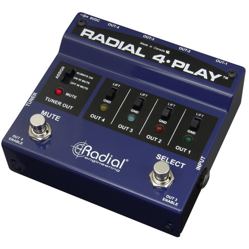 Radial Engineering 4-Play Multi-Output Direct Box