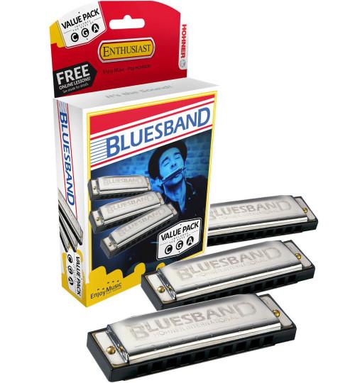 Hohner Blues Band Harmonics 3-Pack