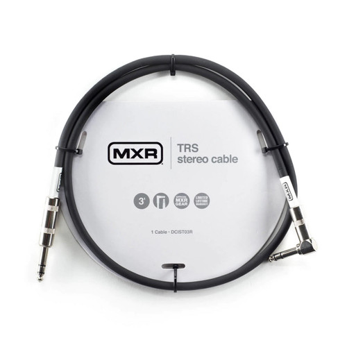 MXR 3 foot Noiseless TRS/Stereo Patch Cable