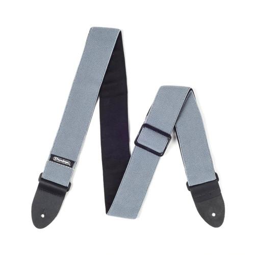 """Jim Dunlop 2"""" Steel Gray Nylon Mesh Strap"""