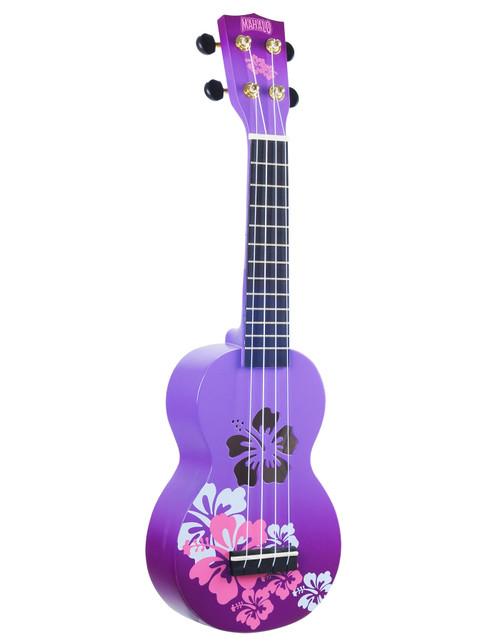 Mahalo Purple Hibiscus Designer Series Soprano Ukulele