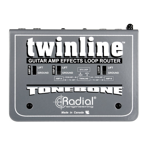 Radial TwinLine Effects Loop Interface for Two Amps