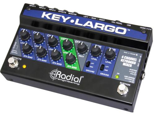 Radial Engineering Key-Largo Keyboard Mixer/Performance Pedal