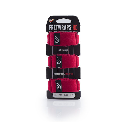 GruvGear 3-pack Medium Red FretWraps