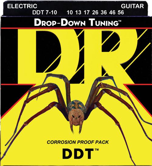 DR DDT7-10 Medium 10-56 7-String Electric Guitar Strings