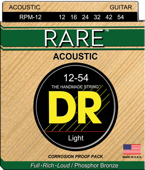 DR Rare RPM-12 Light 12-54 Acoustic Strings