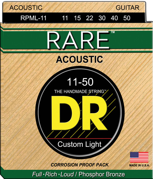 DR Rare RPML-11 Custom Light 11-50 Acoustic Strings