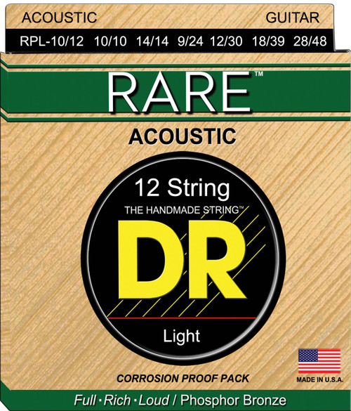 DR Rare RPL-10/12 12-String Light Acoustic Strings