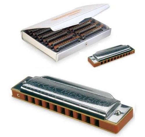 Suzuki Folkmaster 12-Key Harmonica Set in Case