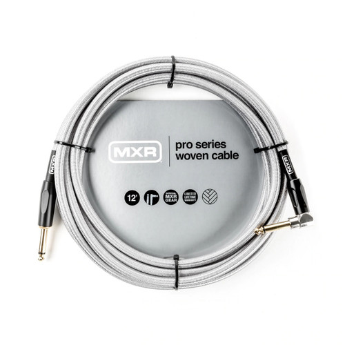 MXR 12 foot Right Angle Pro Series Woven Instrument Cable